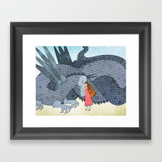 The Dragon and the Princess Framed Art Print