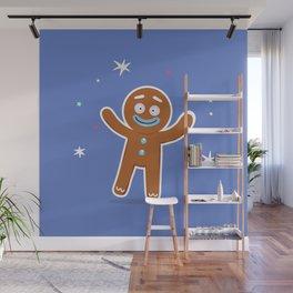 Happy Little Gingerbread Man Wall Mural