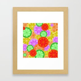 Citrus Explosion - A Pattern of Many Fruits from the Citrus Family Framed Art Print