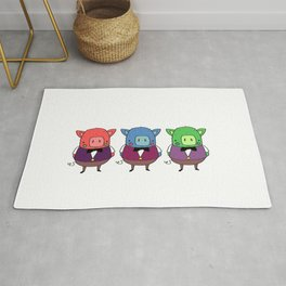 The three little pigs Rug