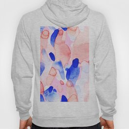 Abstract brushstrokes modern color collage Hoody