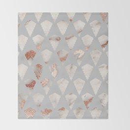 Rose gold marble pattern Throw Blanket