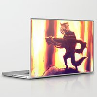 rocket raccoon Laptop & iPad Skins featuring Rocket Raccoon by Mimi JJ