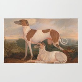 oil paintings of greyhounds Rug