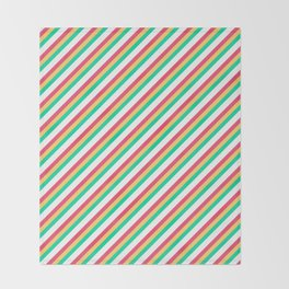 Candy Inclined Stripes Throw Blanket
