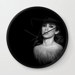 Lauren Jauregui 'Reflection' Digital Painting  Wall Clock