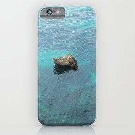 The rock in the middle of the sea iPhone Case