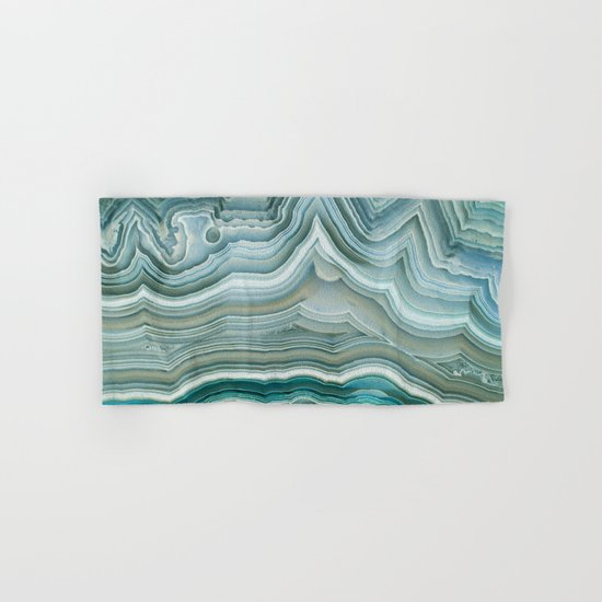 Agate Crystal Blue Hand & Bath Towel