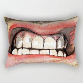 Gritted Teeth Rectangular Pillow