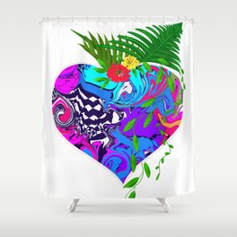 Abstract art, illustration Shower Curtain