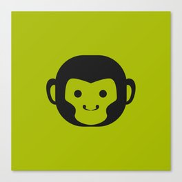 Monkey Head Canvas Print