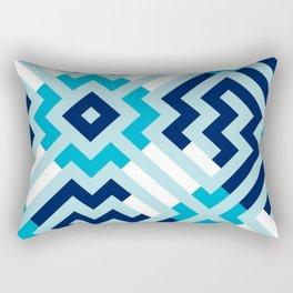 Artis 1.0, No.15 in Warm Blue Rectangular Pillow