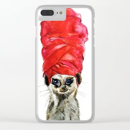 Red Turban Clear iPhone Case