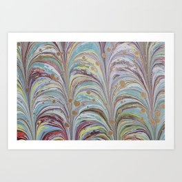 Marbled Multicolor Fountain Art Print