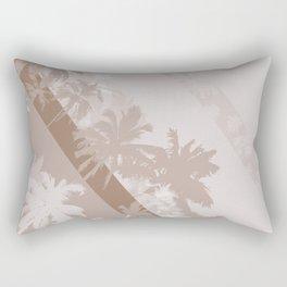 Palm Design - Beige and Brown Rectangular Pillow