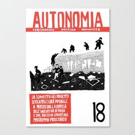 Autonomia n. 18 Canvas Print