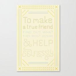 Advice for David Canvas Print