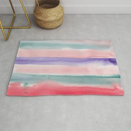 28    190907   Watercolor Abstract Painting Rug
