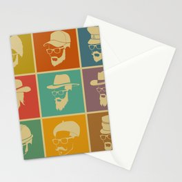 colorful Icons man in a headdress hat Stationery Cards