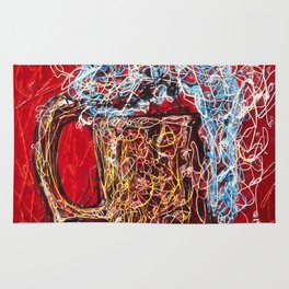 Abstract Beer - Inspired By Pollock  #society6 #wallart #buyart by Lena Owens @OLena Art Rug