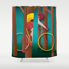 Life is strange, riding bicycle Shower Curtain