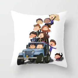 Puppy Pile Throw Pillow
