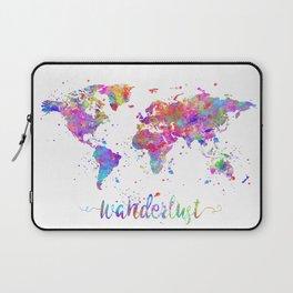 Wanderlust World Map Laptop Sleeve
