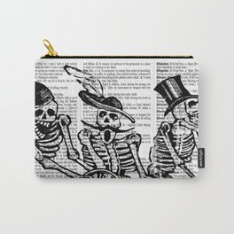 Calavera Cyclists | Black and White Carry-All Pouch
