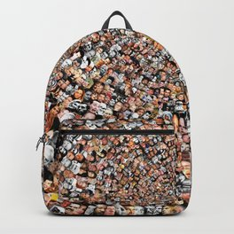 """The Work 3000 Famous and Infamous Faces Collage Backpack"