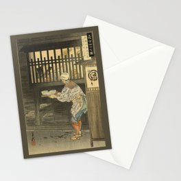 In a Restaurant in Japan Stationery Cards