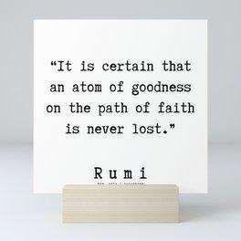 149  | Rumi Quotes | 190221 Mini Art Print
