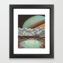 Saturn Spa Framed Art Print