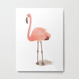 flamingo stance Metal Print