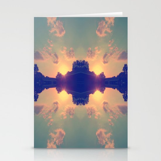 Multiple Sunsets  Stationery Cards