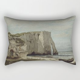 The Etretat Cliffs after the Storm by Gustave Courbet Rectangular Pillow
