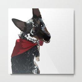 Adorable Dog Wrigley Metal Print