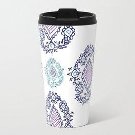 doodle ikat Travel Mug