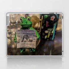 Froggy Reads the Wall Street Journal Laptop & iPad Skin