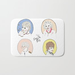 I Heart the Golden Girls Print Bath Mat