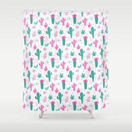 Cactus Pattern Fun Shower Curtain
