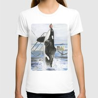 marine T-shirts featuring Marine Star by Jeff Moser Watercolorist