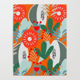 Cacti, fruits and flowers Poster