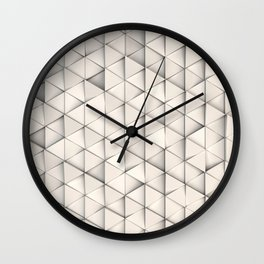 Pattern of white triangle prisms Wall Clock