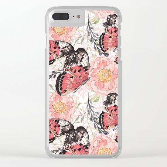 Flowers & butterflies #3 Clear iPhone Case
