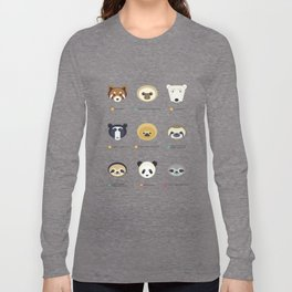 Endangered Bears & Sloths Long Sleeve T-shirt