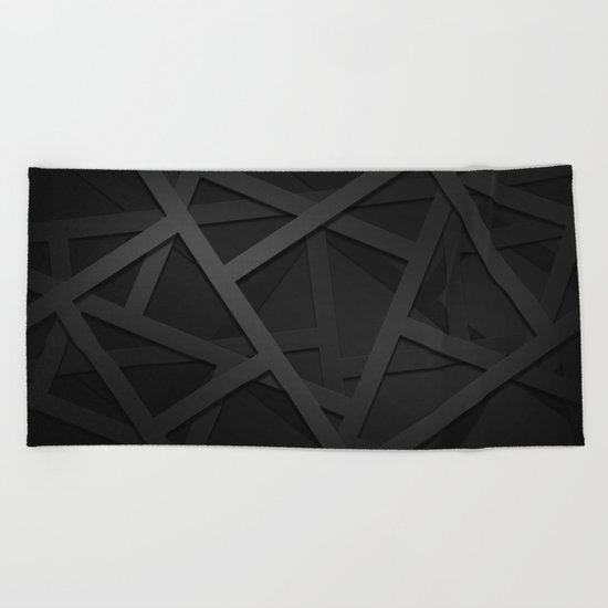 Black Web Beach Towel