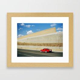 Red Car Framed Art Print