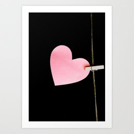 Heart of paper Art Print