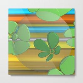 GREEN FLOWER IN POMP Metal Print