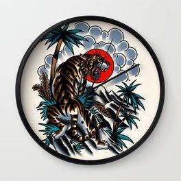 Traditional tiger Wall Clock